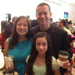 My cool new family:  hubby Eduardo and stepdaughter Prescilla