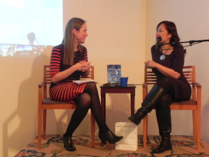 Q&A at my book launch last year