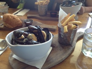 These mussels are to die for - so fresh and delicious.