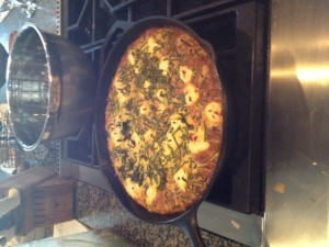 We made a goat cheese kale frittata that was so delicious and easy to make