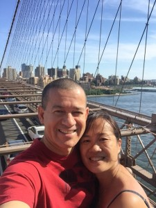 We walked across the Brooklyn Bridge for our anniversary